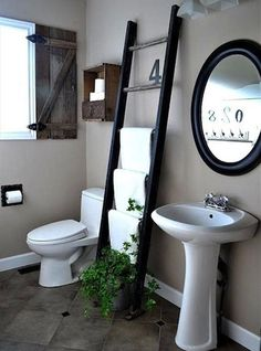 10 Muebles reciclados para baños.