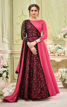 Anarkali Suits - Buy Indian Anarkali Suits with the latest designs and attractive offers online. Best collection of Partywear and festive wear Anarkali Dress for women. Indian Designer Outfits, Indian Outfits, Designer Dresses, Abaya Fashion, Indian Fashion, Fashion Dresses, Fashion Edgy, Work Fashion, Diy Fashion