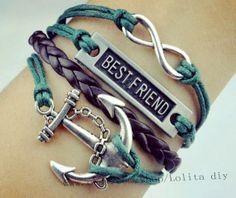 Infinity anchor karma bracelet with best friend by Lolitadiy, $4.99