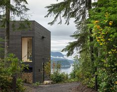 Little House de MW Works Architecture + Design en Seabeck, Washington Minimalist Home Decor, Minimalist Interior, Minimalist Living, Minimalist Bedroom, Minimalist Kitchen, Modern Minimalist, Concrete Siding, Wood Siding, Alice Coltrane