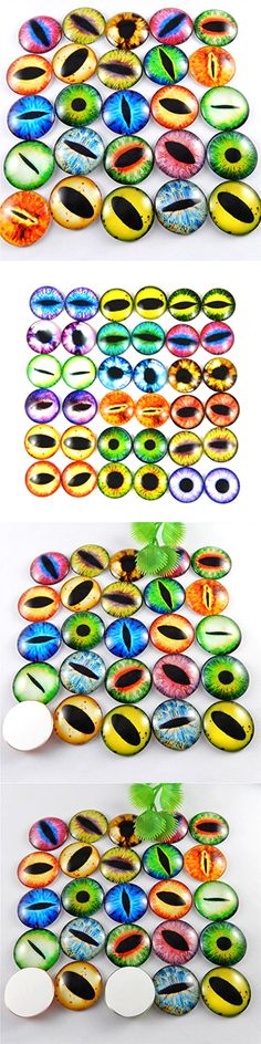 Buttons 31732: Mixed Style Dragon Eyes Round Time Gem Cover Glass Cabochon Dome Jewelry Finding -> BUY IT NOW ONLY: $33.58 on eBay!