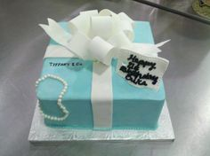 Tiffany Package Cake