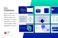 Crypto Pitch Deck Presentation by VIP.Graphics on @creativemarket Presentation Design, Presentation Templates, Keynote Design, E Words, Keynote Template, Pitch, Leadership, Infographic, Deck