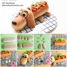 Your little ones will love to get hands on and help create this adorable hot DOG!