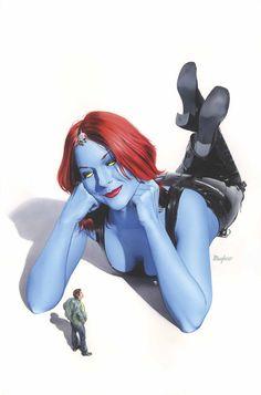 Mystique Cover: Mystique by James Calafiore Marvel Comics Poster - 61 x 91 cm Marvel Comics Art, Marvel Comic Books, Marvel X, Comic Books Art, Marvel Women, Book Art, Mystique Marvel, Cover Art, Female Comic Characters