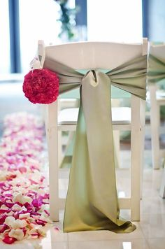 Sashes For Chairs knotted chair sashes | chair sash ideas pt 2: folding chairs
