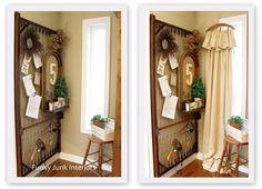 Vintage hanger crop cloth curtains