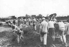 Labor-camp inmates at work on an airfield near Hamburg  Peter Hunter - Rijksinstituut voor Oorlogsdocumentatie, Amsterdam