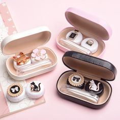 Apparel Accessories Lovely Contact Lens Box Cute Panda Cartoon Unisex Container For Contact Lens Case Latest Technology Eyewear Accessories