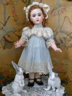 French Bisque BeBe Jumeau in Lovely Costume