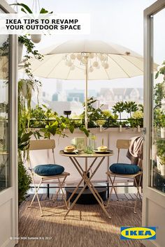 The only limit to your outdoor space should be your imagination! When space is tight, beautify your balcony with plants and IKEA hanging containers. Find more ideas in our Spring Refresh Guide.