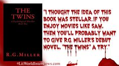 Title: The Twins: A Psychological Thriller Book 1 Author:R.G. Miller File Size:525KB Print Length:227 Page Numbers Source ISBN: 1514105799 Publisher:R.G. Miller Publication Date:November 21,…