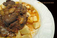 La receta Canaria por ecelencia: Carne de de Cabra con papas de Canarias