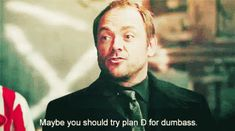 Plan D GIF - Supernatural Crowley MarkSheppard - Discover & Share GIFs