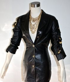 - It's all about punk....Vintage GIANNI VERSACE VERSUS Safety Pin Leather by StatedStyle, $1725.00