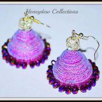 Shimmering Purple Jhumka! Holi Special $8
