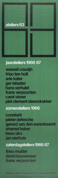 Ateliers 63 Ivent w-face Poster (front), Ateliers 63, Designed by Jolijn van de Wouw, Wim Crouwel and Pieter van Delft, 1968