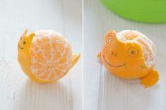 Des animaux rigolos avec des mandarines