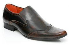 Unze Perforated Toe Slip On - Gs3860-Brown-12.0 Unze. $79.99