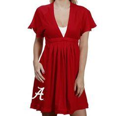 Alabama Crimson Tide Ladies Crimson Burner V-neck Dress  So want! Looks comfy to wear.