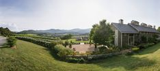 A Panorama of the Big Ceremony at Pippin Hill Farm & Vineyards in Charlottesville, Va Charlottesville Va, Blue Ridge Mountains, Summer Weddings, Rustic Charm, Wine Country, Lush, Florals, Vineyard, Backdrops