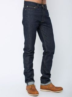 American Apparel Introduces Mens Raw Denim: Selvedge Denim Jeans image MADE FROM 13.5 OZ. COTTON
