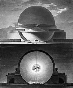 The Newton Cenotaph by Boullée