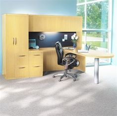 Modern executive desk solutions on sale including the Aberdeen series executive desk configuration from Mayline in your choice of 3 laminate finishes direct from Office Furniture Deals. Modern Executive Desk, Modern Office Desk, Stylish Office, Office Workspace, Home Office Desks, Office Furniture Design, Office Interior Design, Office Interiors, Aberdeen