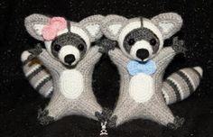 Crocheted Raccoon Amigurumi [FREE Crochet Pattern]