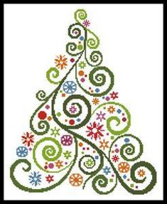 Abstract Christmas Tree Cross Stitch Pattern, You can cause very particular designs for textiles with cross stitch. Cross stitch versions can very nearly surprise you. Cross stitch beginners can make the versions they need without difficulty. Xmas Cross Stitch, Cross Stitch Kits, Cross Stitch Charts, Counted Cross Stitch Patterns, Cross Stitch Designs, Cross Stitching, Cross Stitch Embroidery, Paper Embroidery, Embroidery Patterns