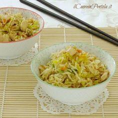riso basmati con pollo e verdure Finger Food Appetizers, Finger Foods, Appetizer Recipes, Pollo Light, Oriental Food, Quinoa Rice, International Recipes, Asian Recipes, Food Inspiration