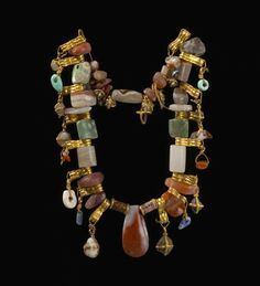 """archaicwonder: """"Assyrian Jewelry Chain (Grave Goods), from Ashur, Middle Assyrian Period, c. 14th-13th Century BC Currently located in the Vorderasiatisches Museum, Berlin. The ancient site of Ashur,..."""