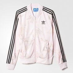 adidas Pastel Rose Track Jacket Multicolor ($75) ❤ liked on Polyvore featuring activewear, activewear jackets, adidas, adidas activewear, track jacket and adidas sportswear