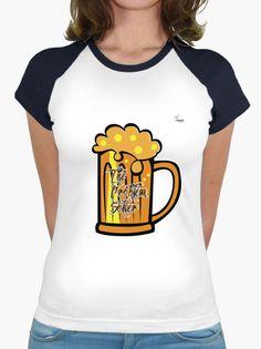 Camiseta Cerveza B Camiseta mujer, estilo béisbol  18,90 € - ¡Envío gratis a partir de 3 artículos!
