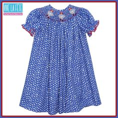 #NewArrival Raggeddy Smocked Girls Bishop Dress!