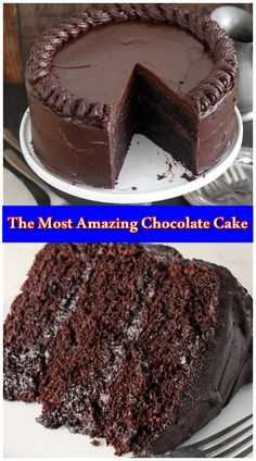 The Most Amazing Chocolate Cake The Most Amazing Chocolate Cake,Torten,Kuchen&Co. The Most Amazing Chocolate Cake is here. I call this my Matilda Cake because I swear it's just as good as the cake that. Easy Vanilla Cake Recipe, Amazing Chocolate Cake Recipe, Best Chocolate Cake, Homemade Chocolate, Chocolate Recipes, Matilda Chocolate Cake, Simple Chocolate Cake, Death By Chocolate Cake, Chocolate Cake From Scratch