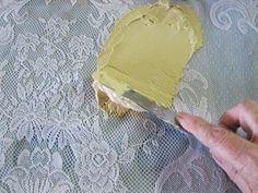 s 11 mandíbula caída técnicas de decoración que nunca he visto antes, manualidades, pintura, pintura de muebles de madera, hacer un diseño de encaje de las piezas de madera con la formación de hielo