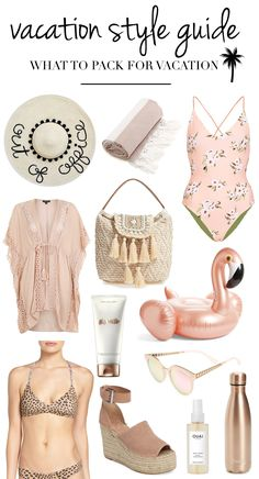 Vacation Style Guide | What To Pack For Vacation | Vacation Fashion | Resort Wear | Vacation Clothes | Vacation Wear | Cute Vacation Clothes | Vacation Dresses | Swimsuits | Bathing Suits | Beach Vacation Outfits | Resort Clothing