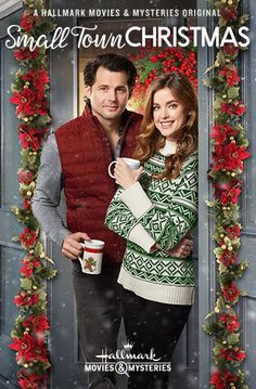 Its a Wonderful Movie - Your Guide to Family and Christmas Movies on TV: Small Town Christmas - a Hallmark Movies & Mysteries Miracles of Christmas Movie starring Ashley Newbrough & Kristoffer Polaha! Hallmark Filme, Películas Hallmark, Hallmark Holiday Movies, Christmas Movies On Tv, Hallmark Holidays, Hallmark Channel, Christmas Poster, Christmas Bells, Christmas Countdown