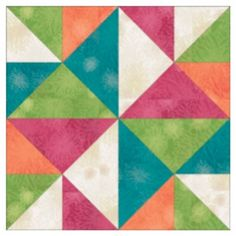 The Windmill block is the twelfth of twelve installments in the Angle Play Quilt. This beautiful block utilizes half-square and quarter-square triangles, AccuQuilt GO! or Studio fabric cutting dies to make cutting easy and accurate. Quilt Block Patterns, Pattern Blocks, Quilt Blocks, Half Square Triangle Quilts Pattern, Square Quilt, Japanese Patchwork, Barn Quilts, Quilting Designs, Quilting Ideas