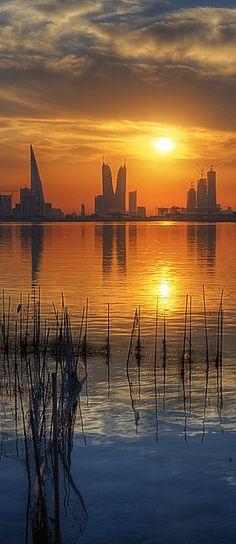 Manama sunset, Bahrain