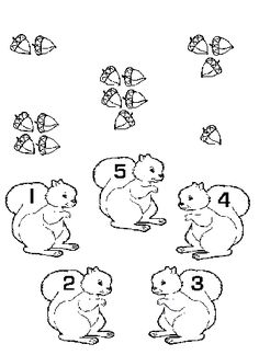 Hands-on Squirrel and Acorn themed activities to help children learn to read, write and learn math skills. Scurry like a squirrel. Fall Preschool, Preschool Kindergarten, Preschool Worksheets, Toddler Preschool, Math Activities, Toddler Activities, Preschool Activities, Early Learning, Kids Learning