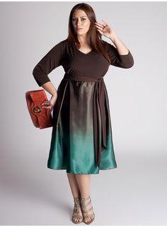 Dress in Brown & Teal.