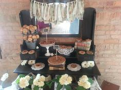 Pie station dessert table by Sugar-sugarcakes.com in Canton (Atlanta) GA.