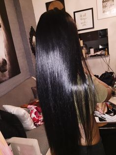 Brazilian Straight Human Hair Wigs Adjustable Pre Plucked top lace Closure HumanHair Wigs 100 Unprocessed Remy Hair For Black Women Straight Black Hair, Long Black Hair, Very Long Hair, Beautiful Long Hair, Gorgeous Hair, Ebony Hair, Real Human Hair Extensions, Silk Hair, Natural Hair Styles