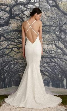 Nicole-Miller-Fit-And-Flare-VIOLET--HF10002-IVORY-2015-791124. Laura  Rossini · Wedding Dresses 958151229b83