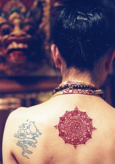 red mandala #back #tattoos