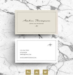 Business Card / Template / CV by Emily's ART Boutique on @creativemarket
