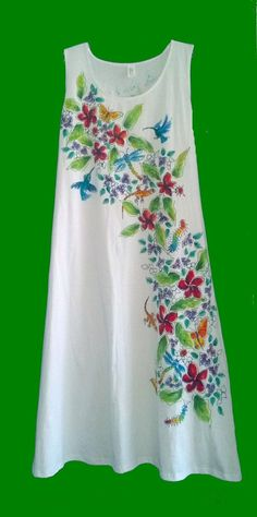 Frangipani Tropicale Sleeveless Dress for by DeborahWillardDesign, $78.00