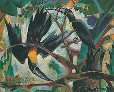 Dois tucanos s.d. | John Graz óleo sobre tela, c.i.d. Coleção Sr. e Sra. Fernando Henrique Cardoso